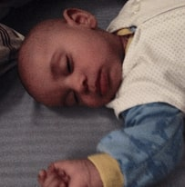 Image of 7 month old with gentle sleep transition.