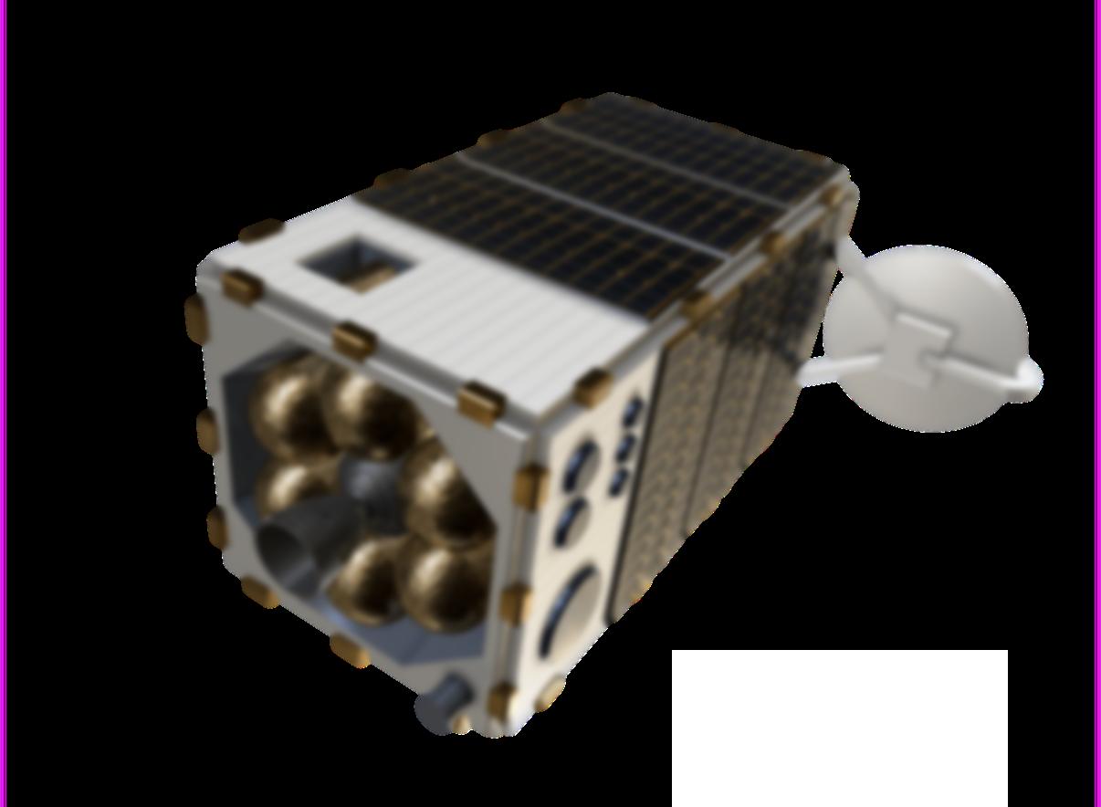 A boxy satellite that detects methane.