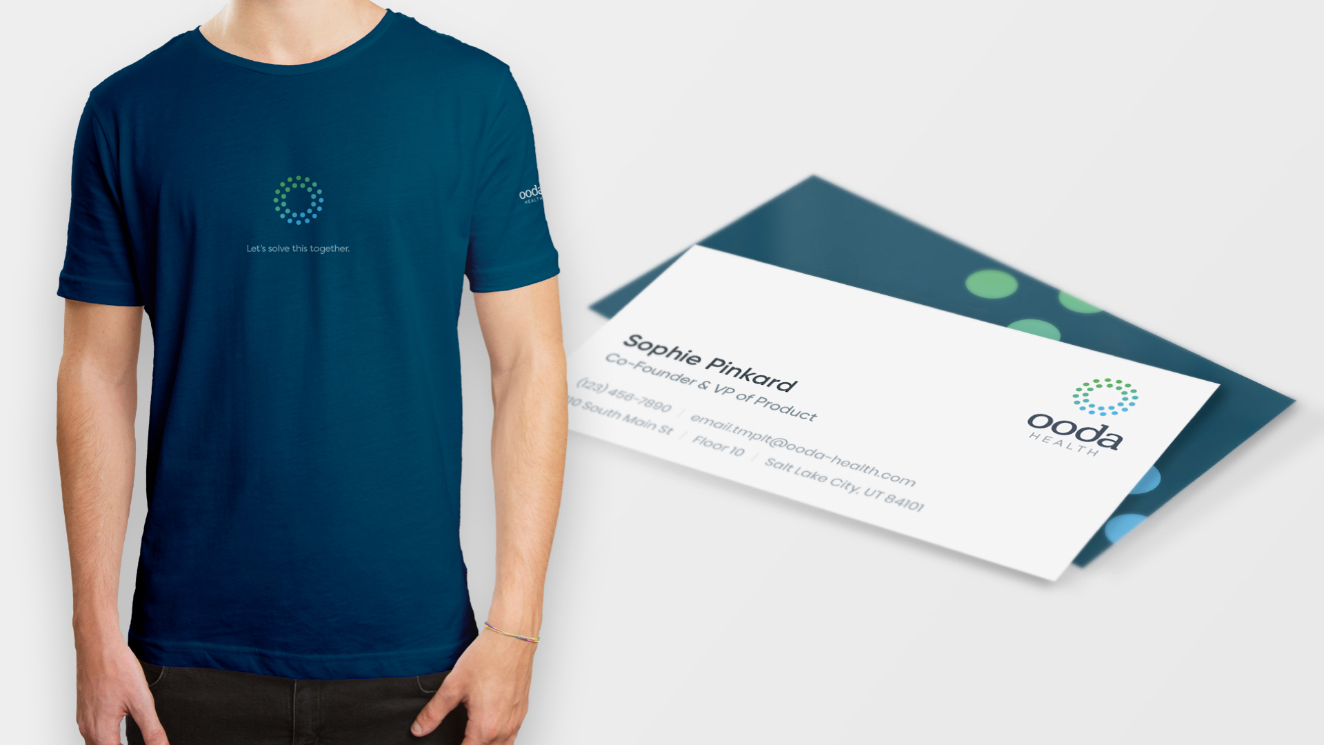 tee shirt and business card design