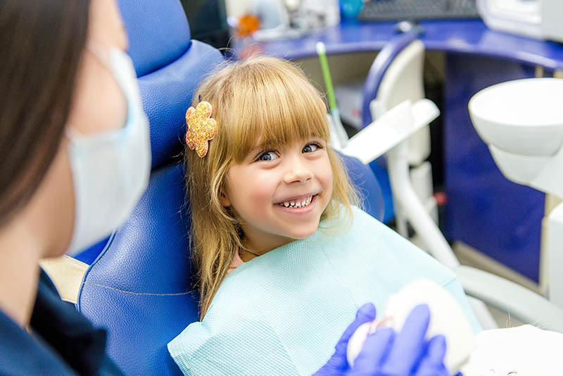a child in dental chair