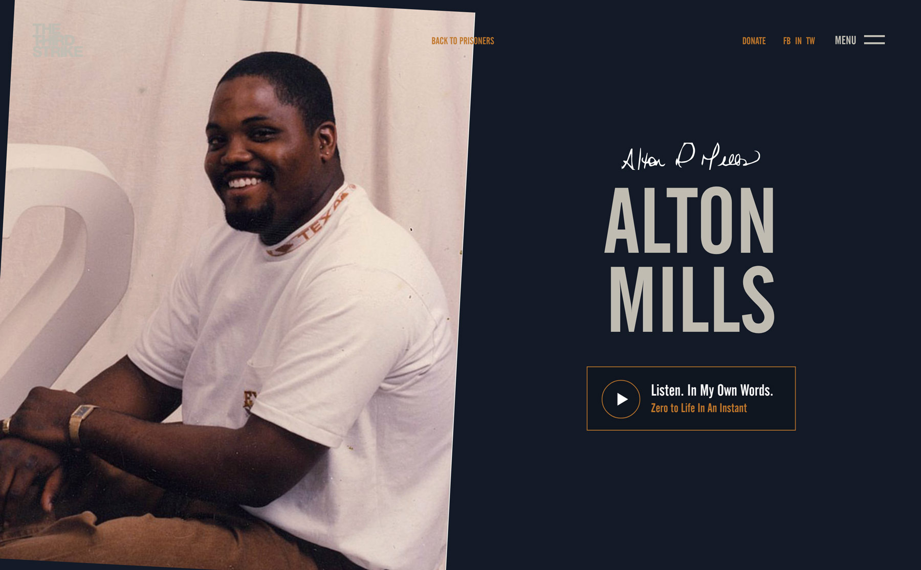 The story about Anton Mills on The Third Strike Campaign page