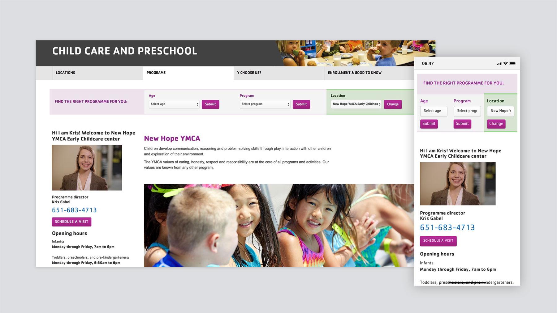 The YMCA day care prototype design