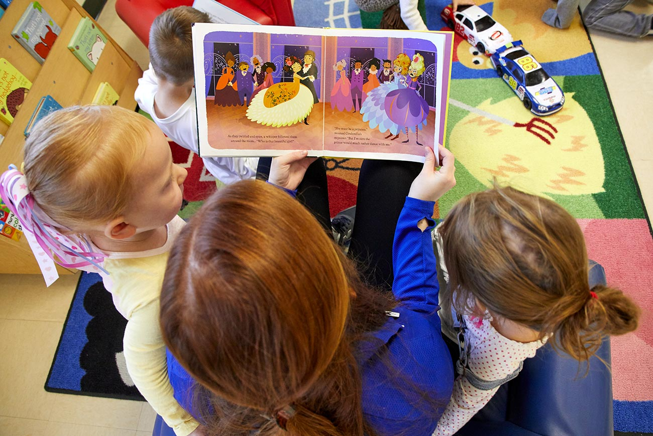 Showing images of people attending the YMCA day care centers