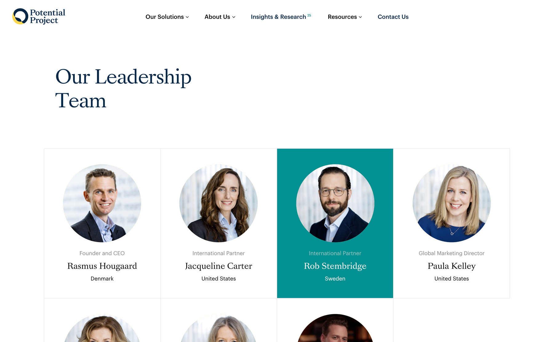 the new website that shows who their leadership team is