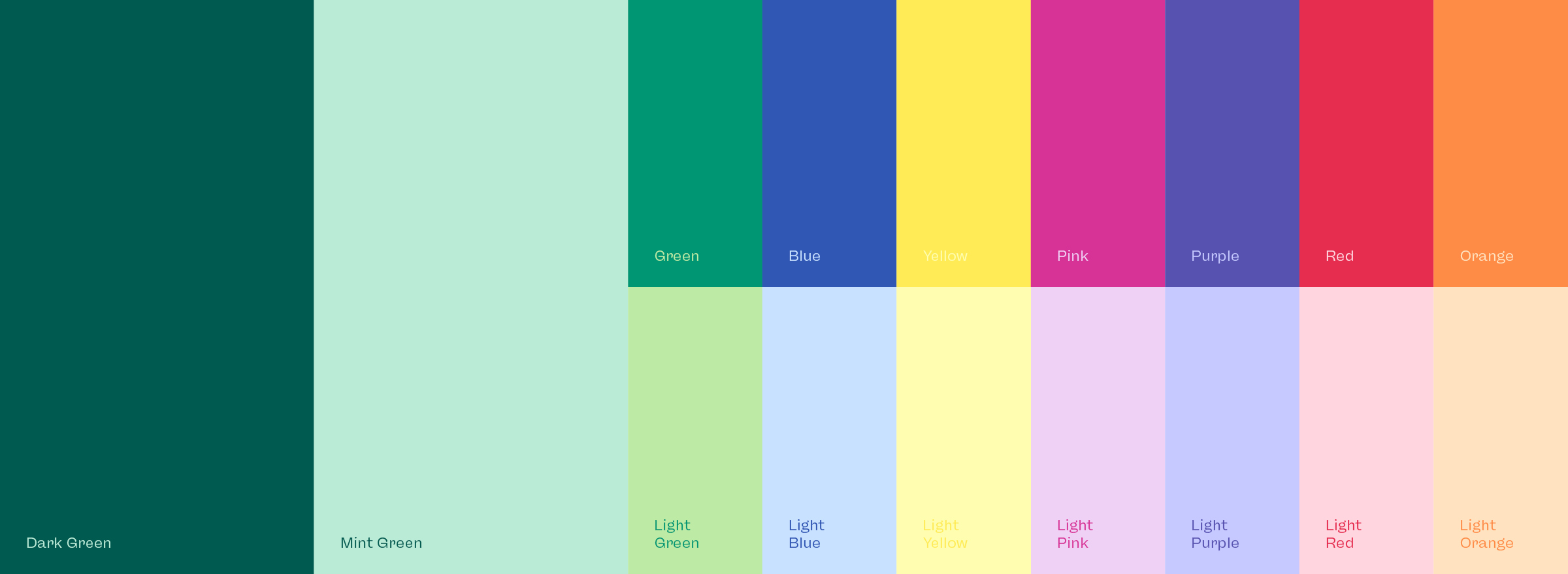 the colors belong to the new visual identity