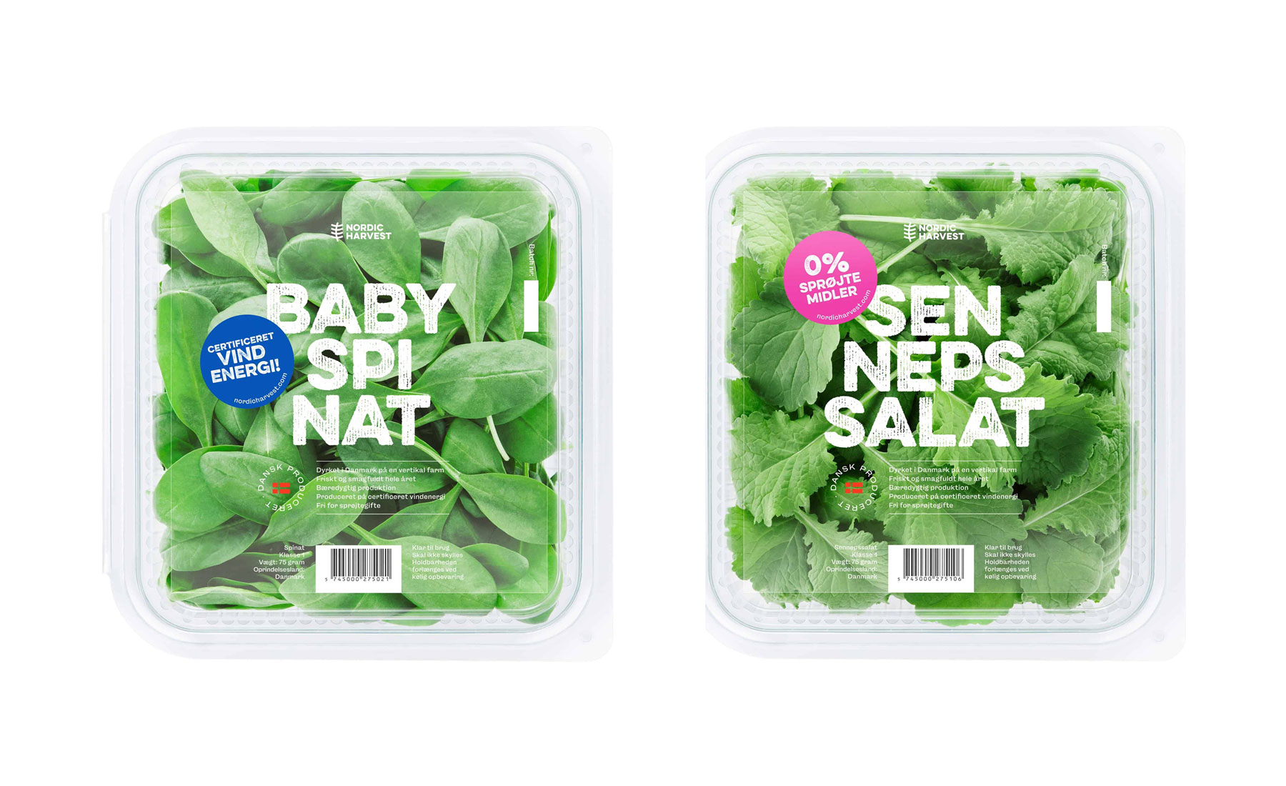 the new Nordic Harvest design of packaging