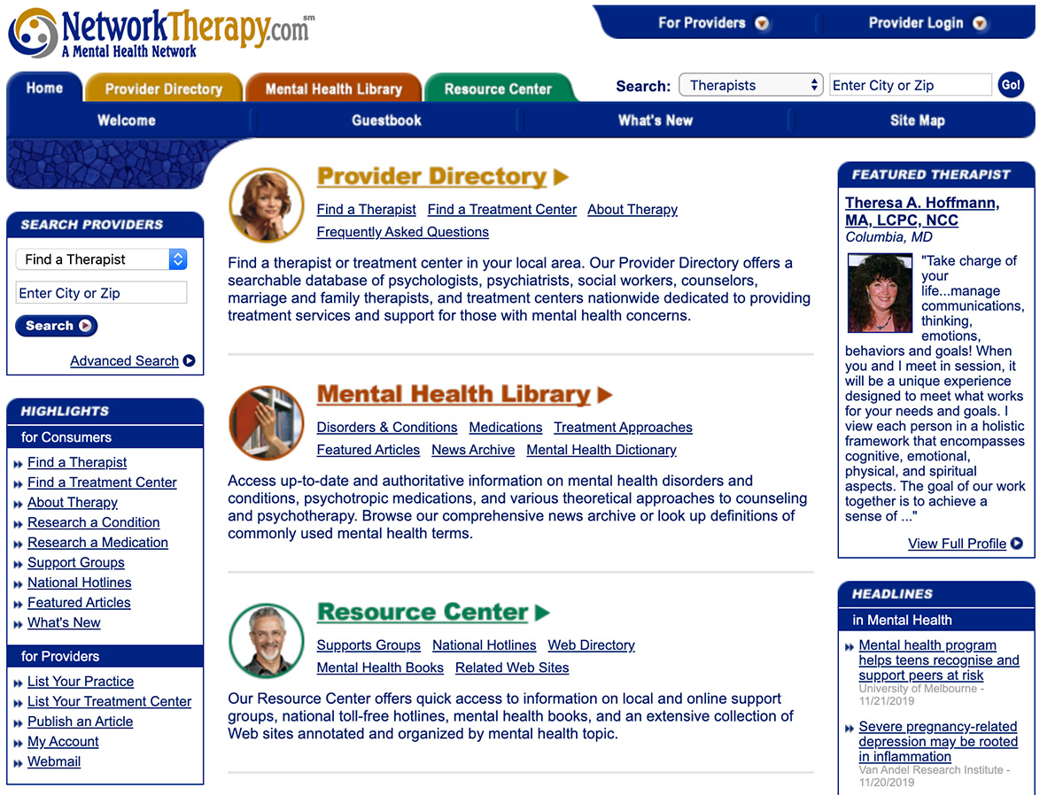 example counseling directory