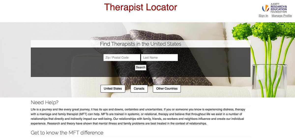 therapist directories all