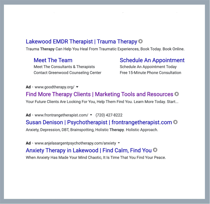 therapist marketing