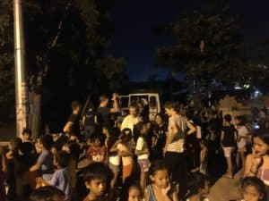 Essensausgabe in Cebu City