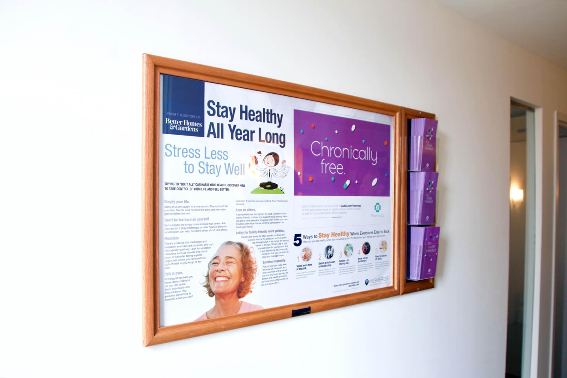 wallboard advertising in doctors office waiting rooms