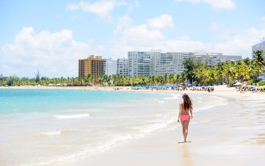 The beach at San Juan, Puerto Rico