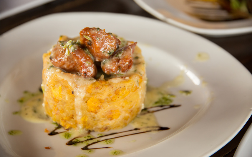 Mofongo is a traditional food in Puerto Rico