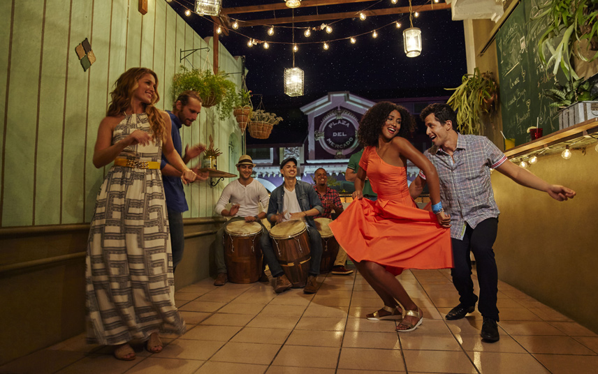 Vibrant nightlife and dancing in Puerto Rico