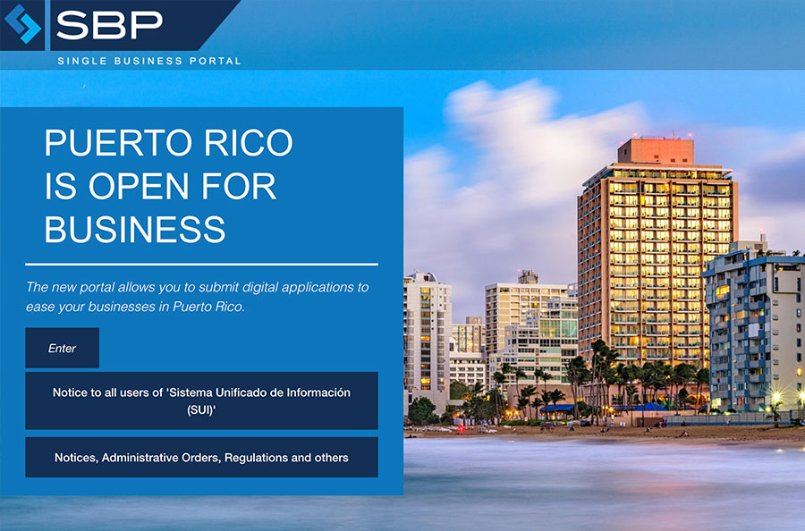 Puerto Rico's Single Business Portal allows you to submit digital applications to ease doing business in Puerto Rico