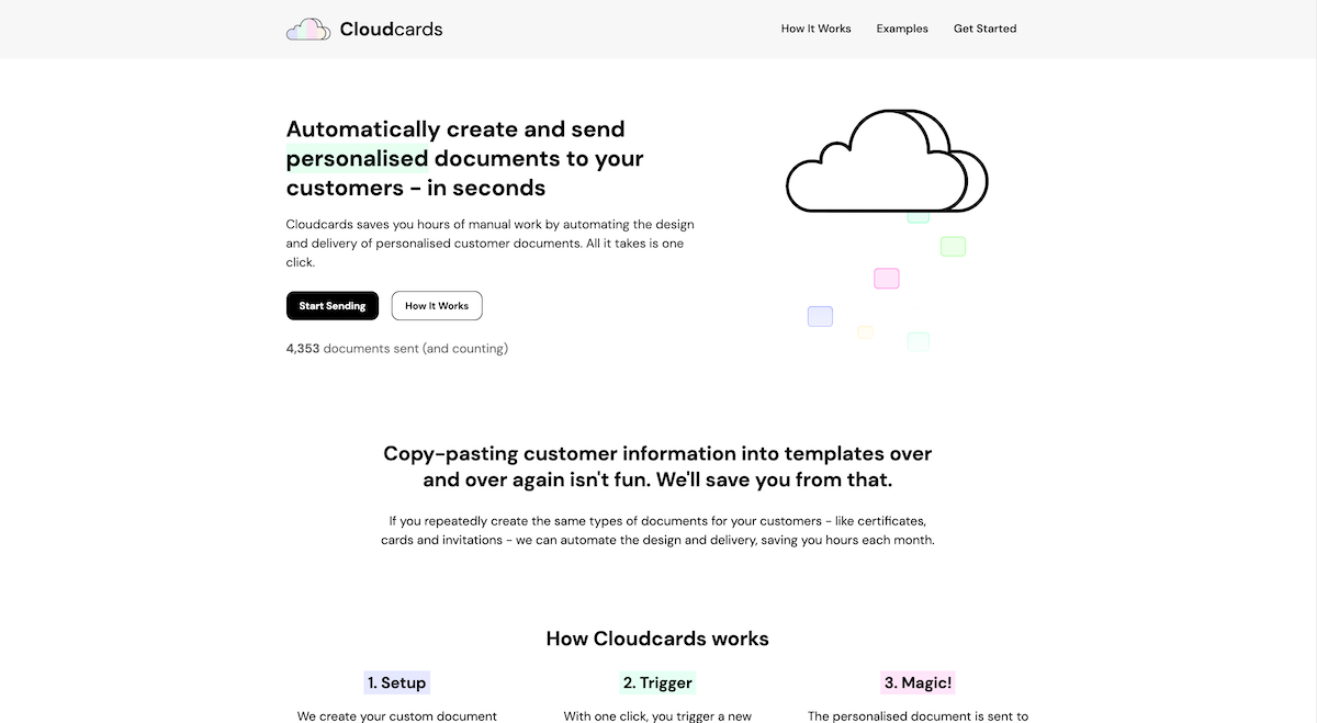 Cloudcards website