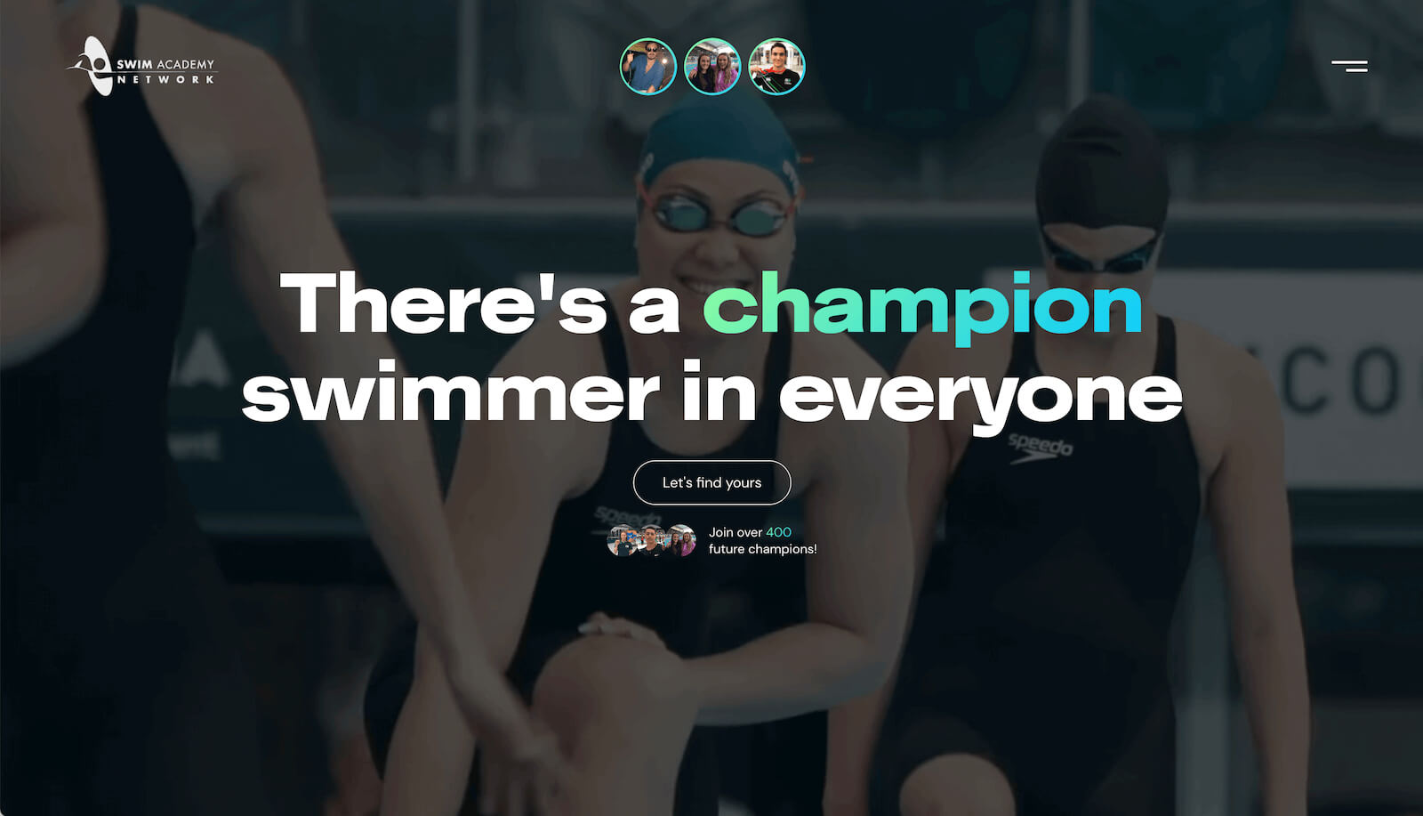 Swim Academy Network website