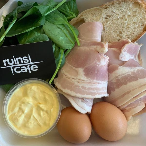 Ruins Cafe - Eggs Benny Pack