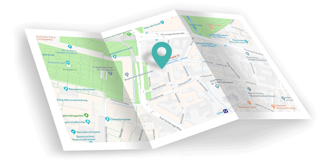 Kartenausschnitt AirLST Standort