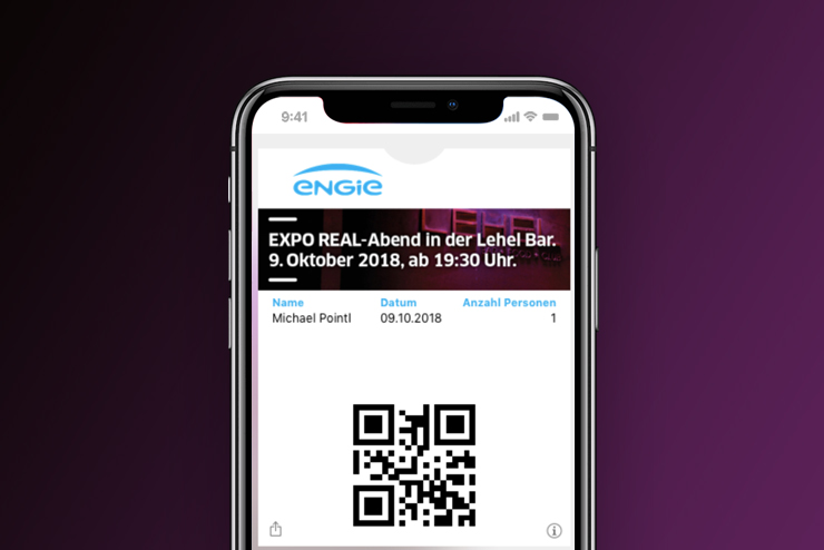 Teilnehmermanagement Wallet Ticket