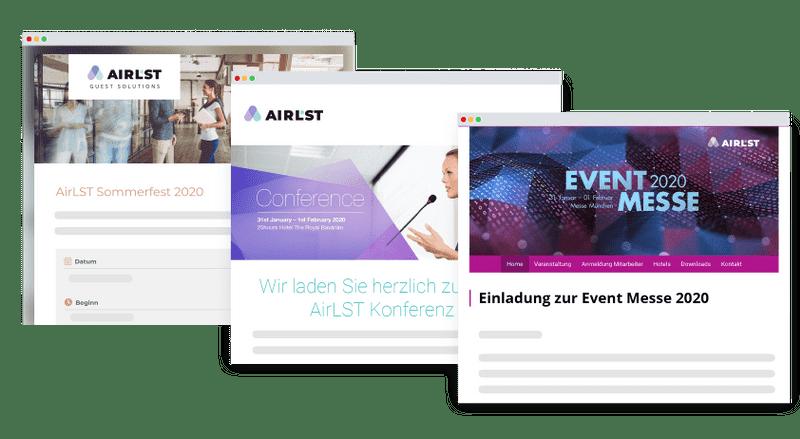 Einladung und Ticketing mit AirLST