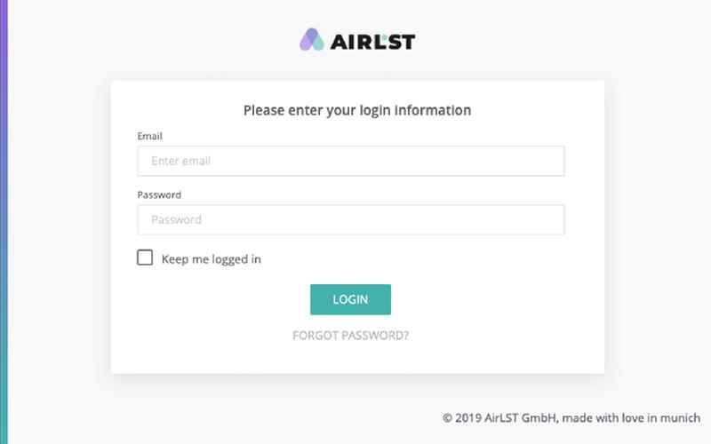 AirLST Login 2.0