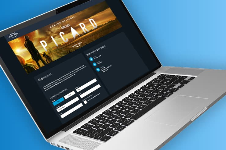 Teilnehmermanagement Landingpage