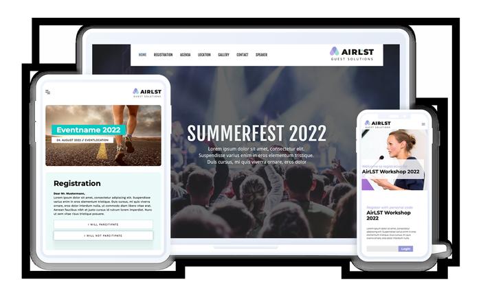 Die AirLST Event Landingpage
