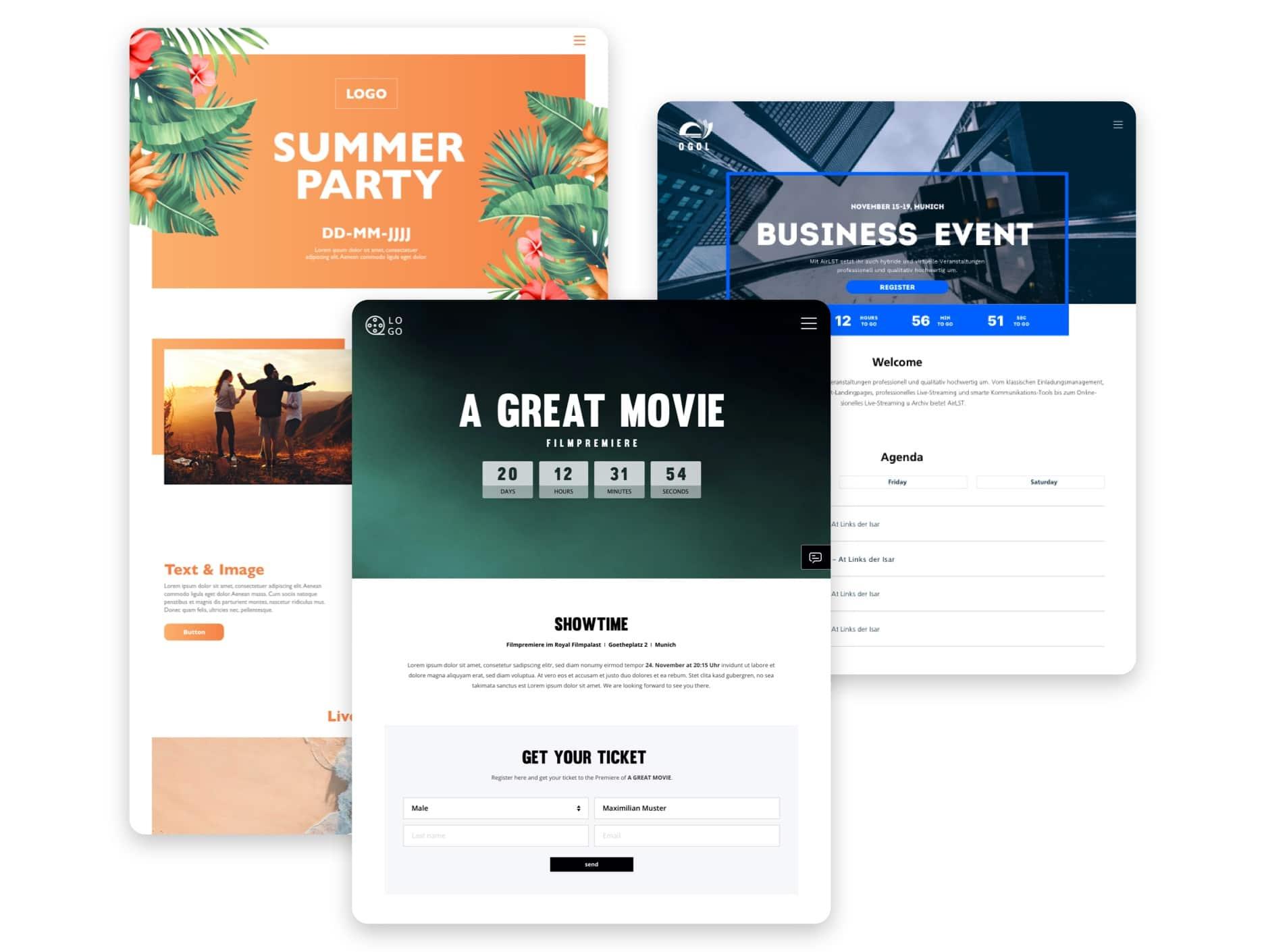 Event-Landingpages