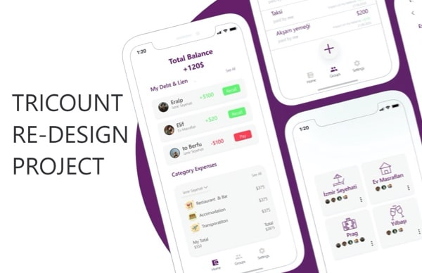 Tricount Redesign Projesi