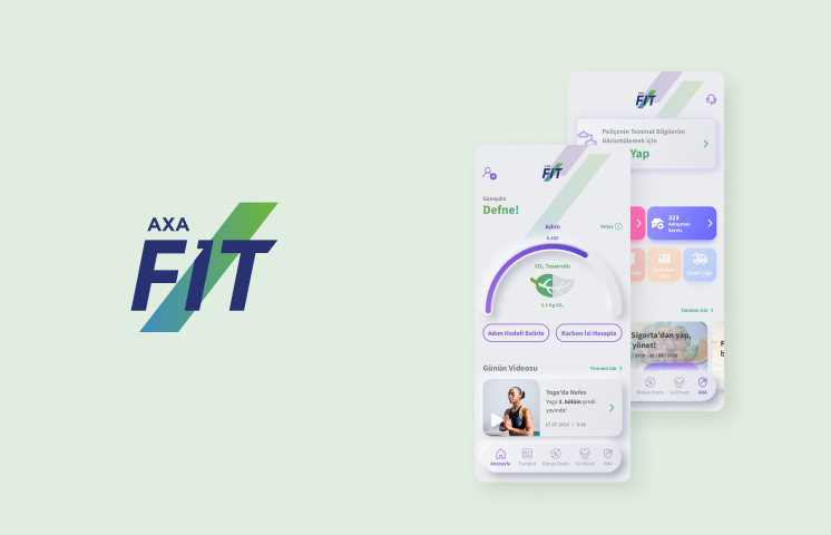 Axa Fit Mobil Uygulama Kullanıcı Deneyimi Tasarımı Projesi