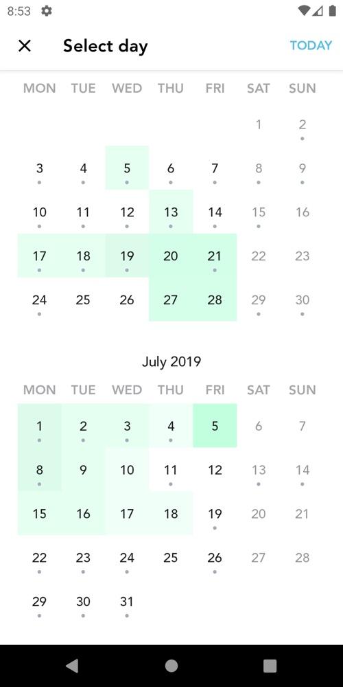 calendar colours