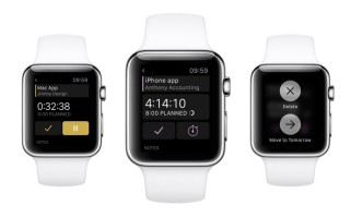 Task page on Apple Watch