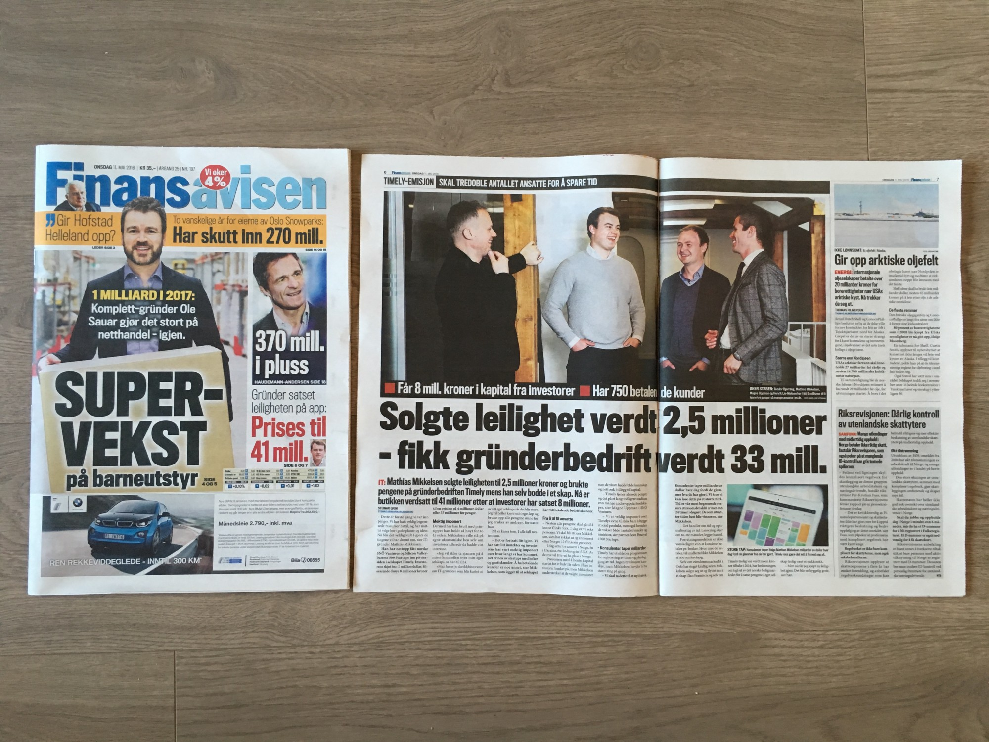 Timely in Finansavisen