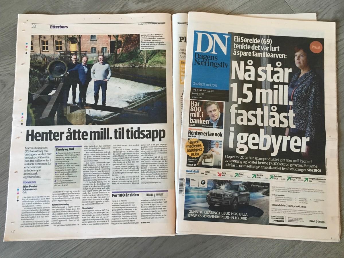 Timely in Dagens Næringsliv