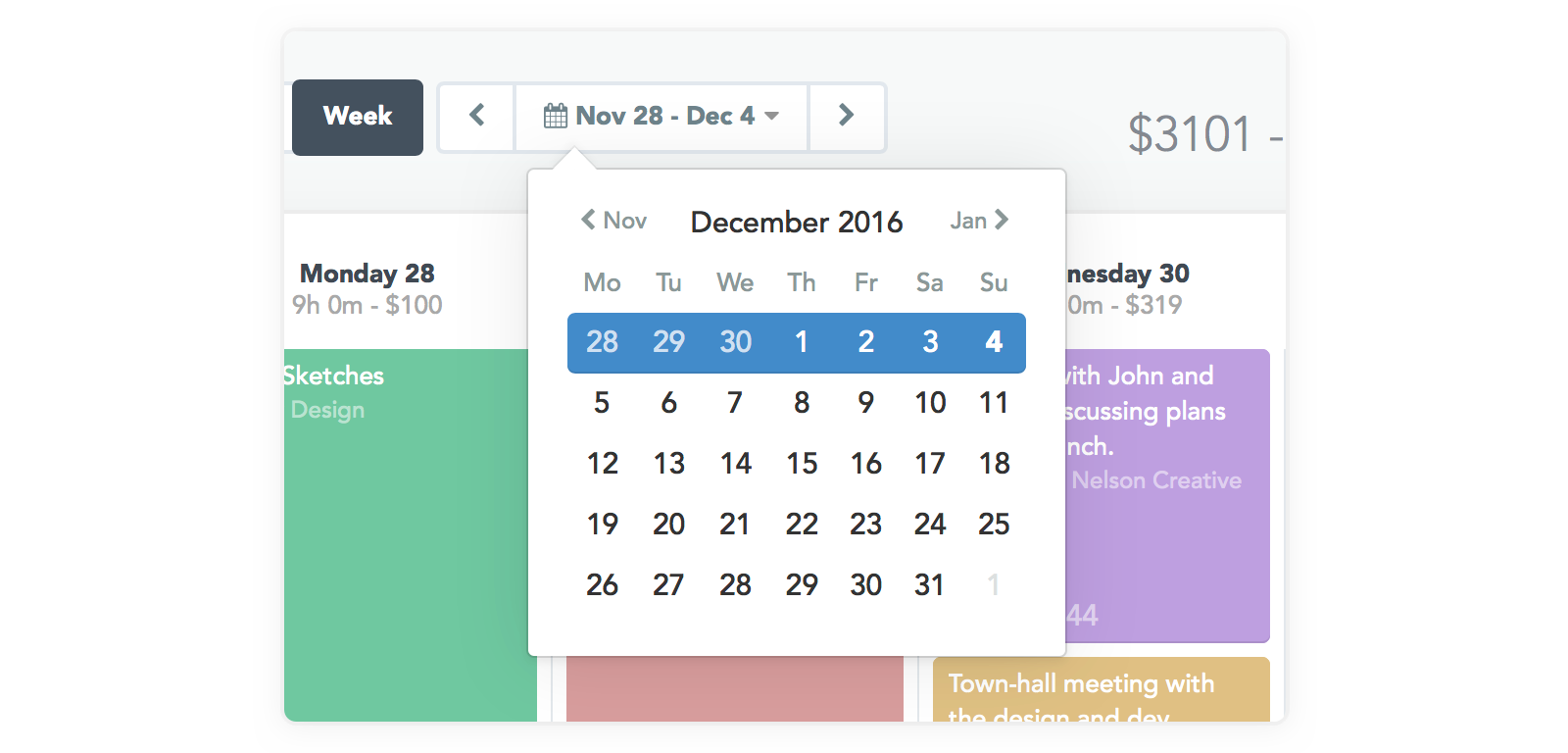 Timely date picker