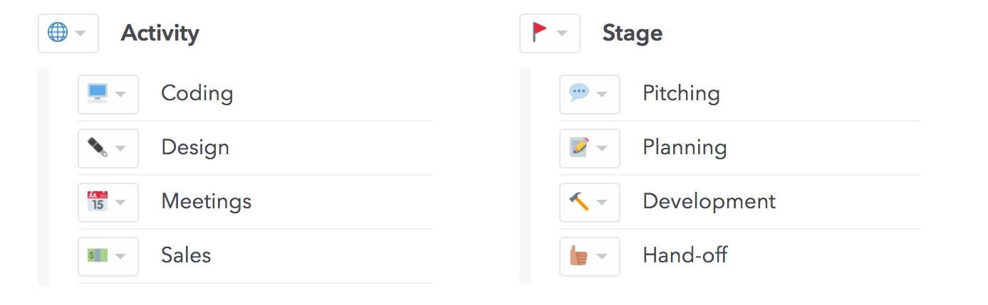 organizing sub-level tags