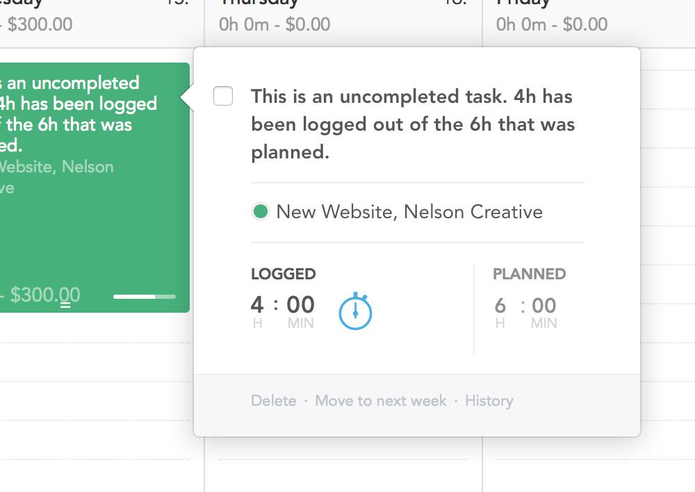 tasks & logged vs planned 2 BODY