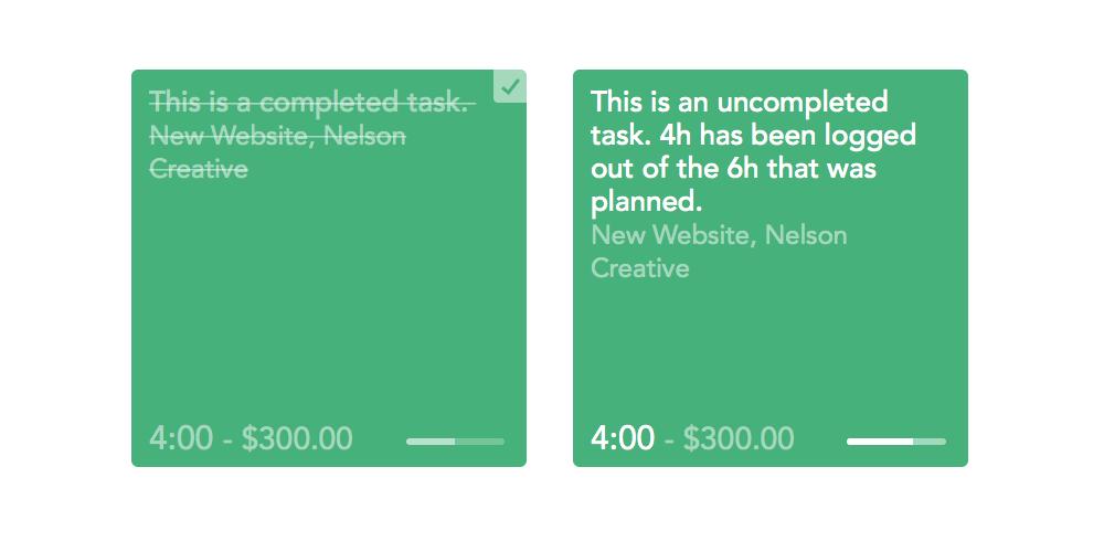 tasks & logged vs planned 1 BODY