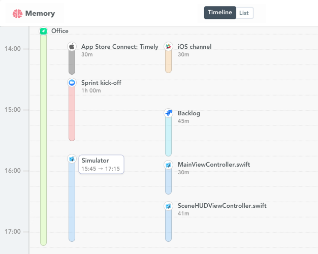 xCode time tracking