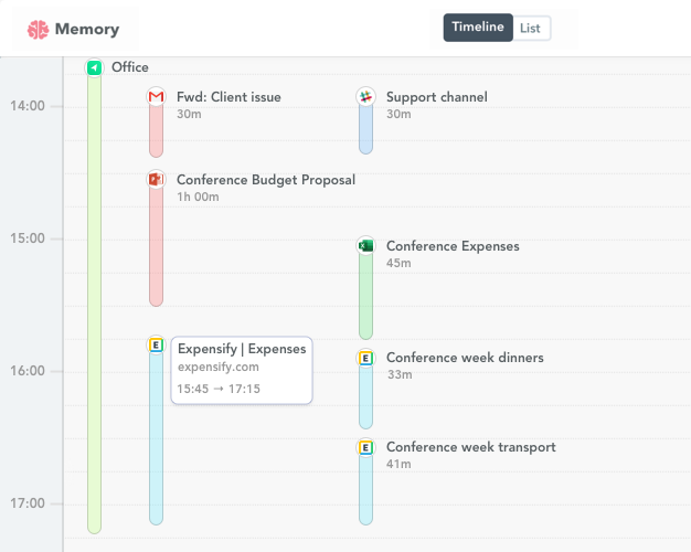 Expensify time tracking