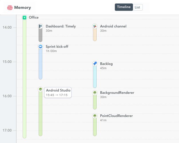 Android Studio time tracking
