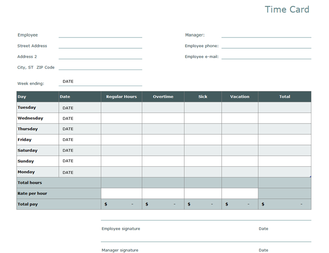 Timesheet templates: the good, the bad, the pointless ...