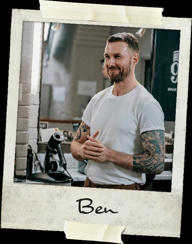 Ben Copeland, hairdresser.