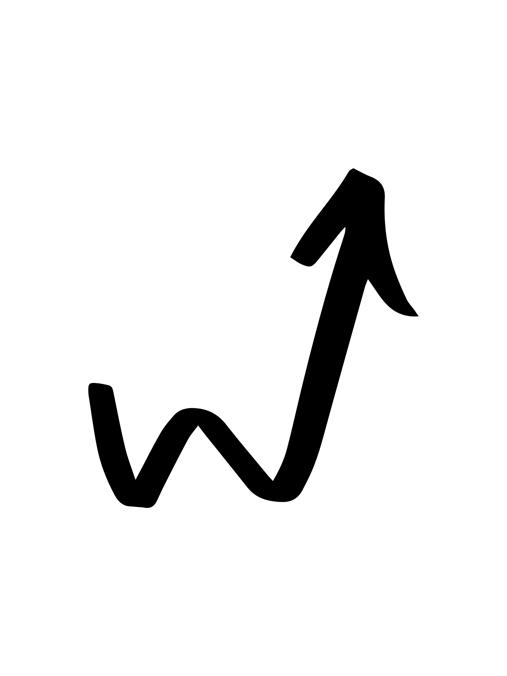 Icon of arrow showing an increase