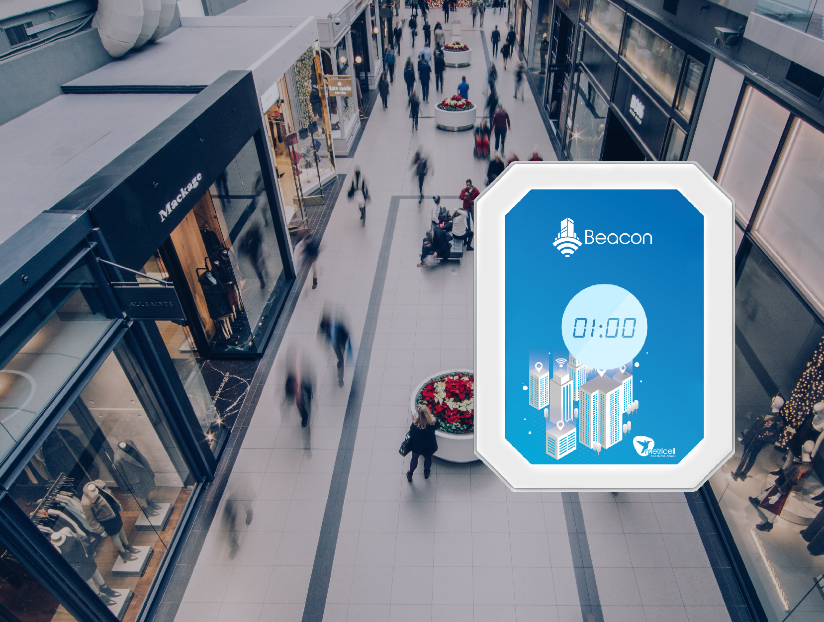 Metricell's Beacon units are autonomous network monitors. Customisable test scripts allow those looking after retail connectivity to test the network all year round and access the performance information through fast, user friendly online software and dashboards.