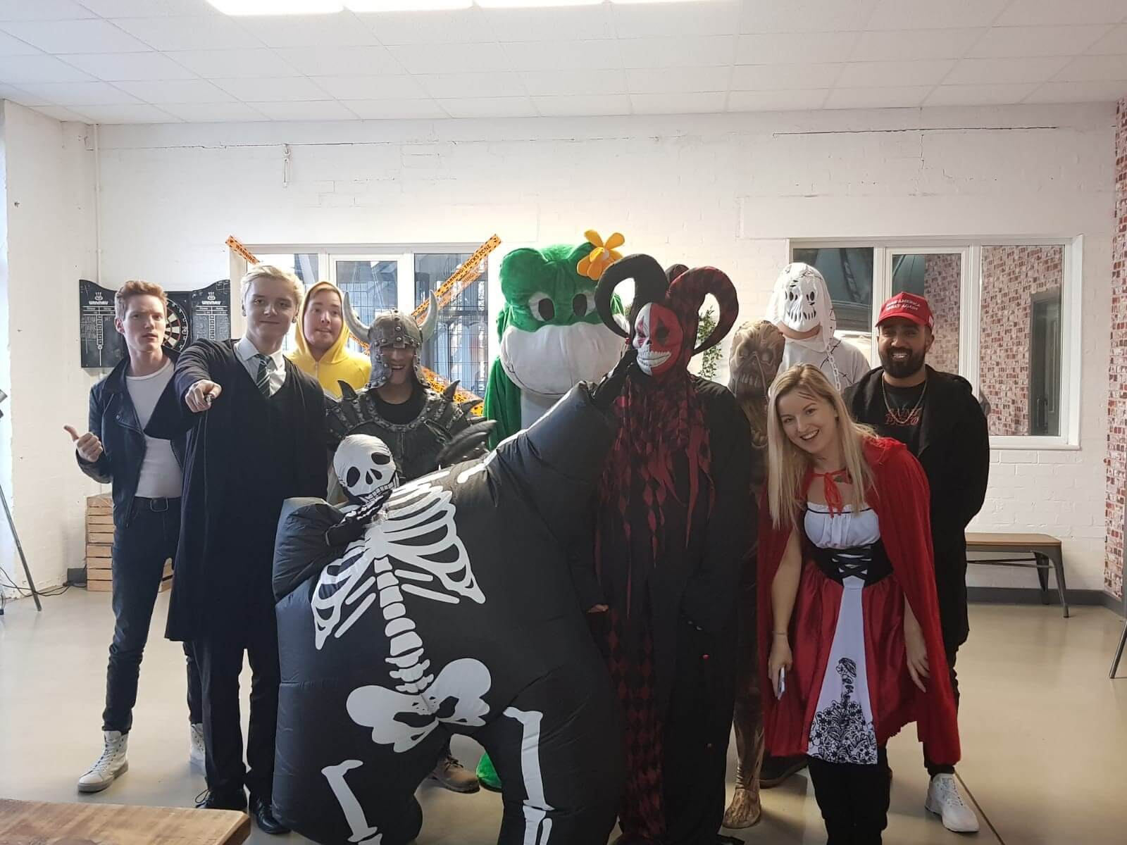 Some of the team dressed up for Halloween