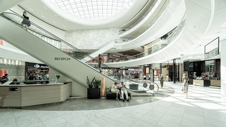 inside a shopping centre