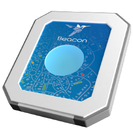 A beacon location monitor