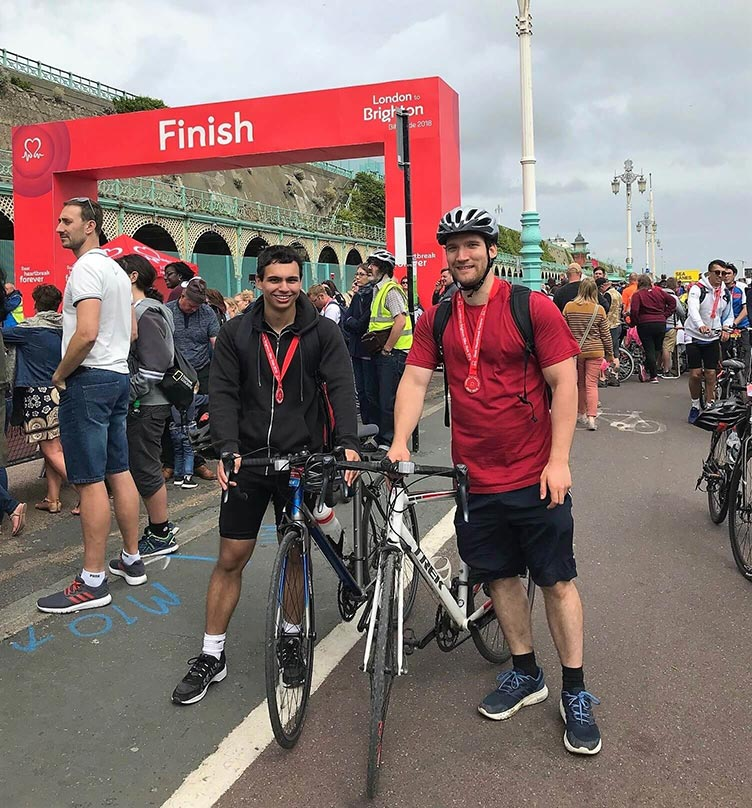 A photo of Metricell Staff who completed the London to Brighton bike ride for charity
